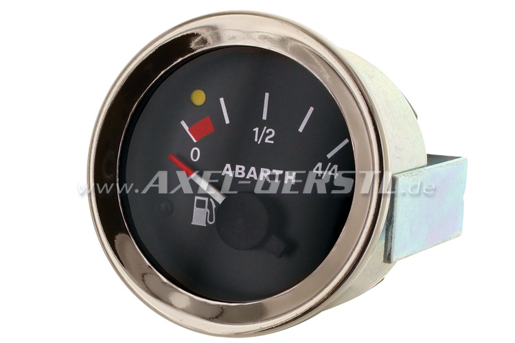 Abarth petrol gauge, 52mm, black dial