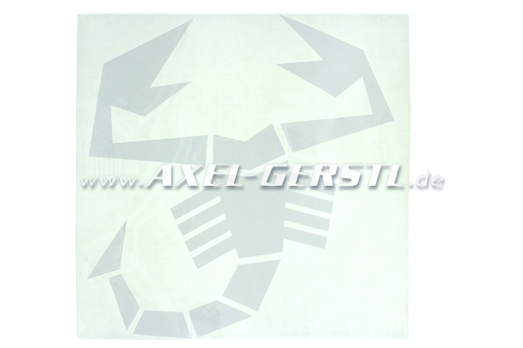Abarth sticker / Scorpio 200 x 213 mm, white