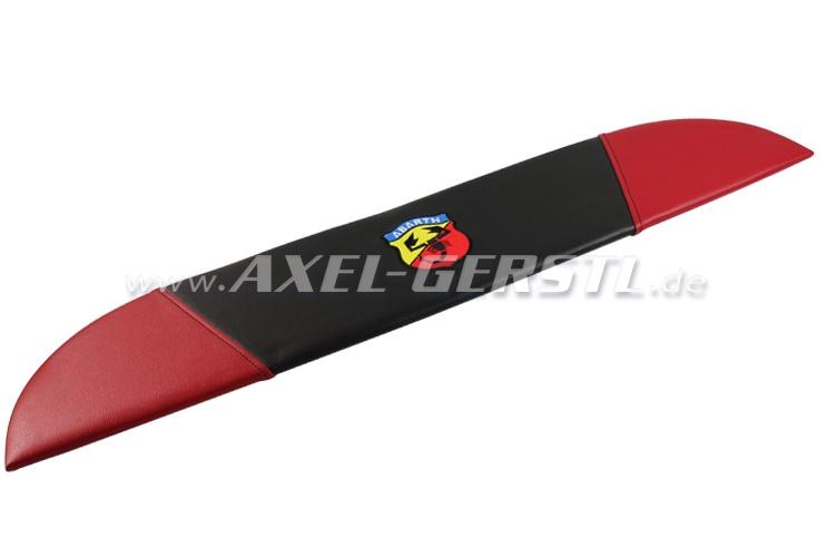 Hutablage ABARTH, Kunstlederbezug, schwarz / rot