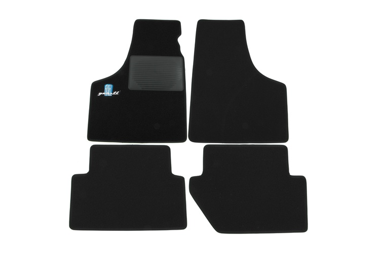 Set of foot mats black with blue AXEL GERSTL logo