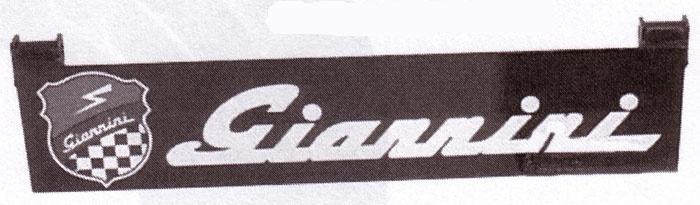 Motorhauben-Aufsteller unten, Giannini (Wappen&Schriftzug)