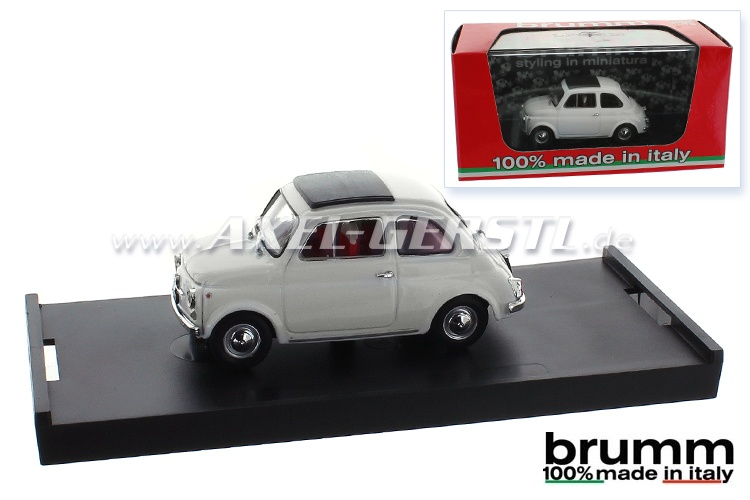 Model car Brumm Fiat 500 F, 1:43, white / closed