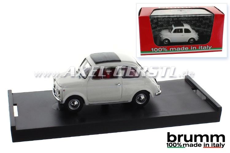 Modello dauto Brumm Fiat 500 F, 1:43, bianco / chiuso