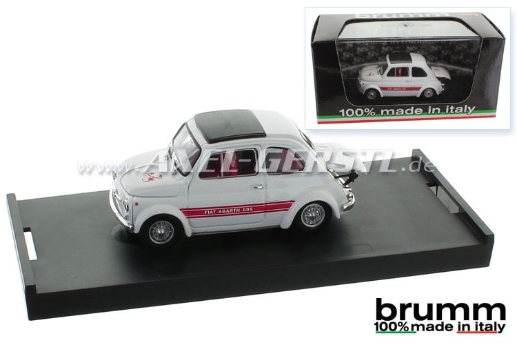 Model car Brumm Abarth 695SS, 1:43, white / closed