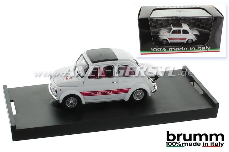 Modellauto Brumm Abarth 695SS, 1:43, weiß / geschlossen