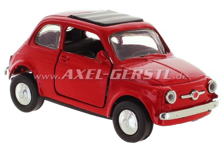 Modellauto Fiat 500 F, rot, 1:32; Spritzguss / Plastik