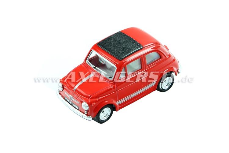 Auto modello in metallo KINTOY Fiat 500, 1:48, rosso