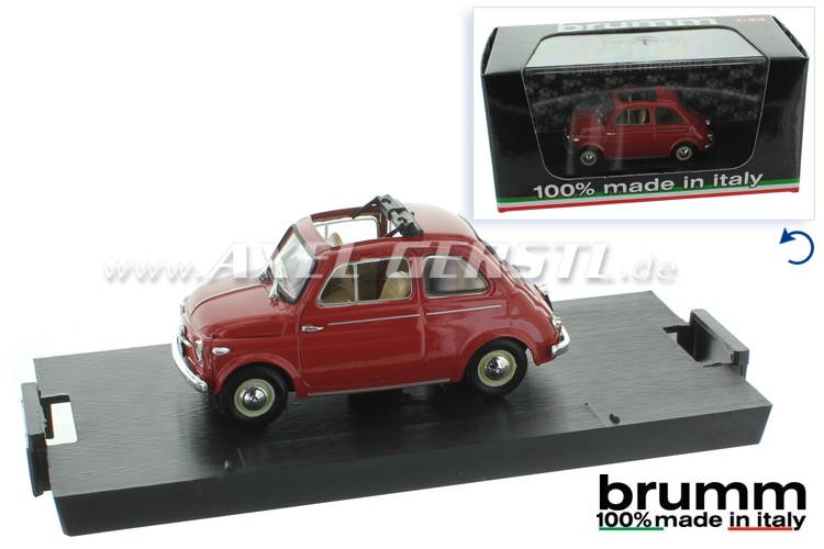 Model car Brumm Fiat 500 N (1959), 1:43, coral red / open