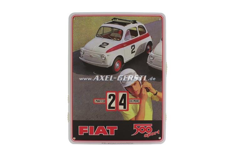 Calendar FIAT 500 sport (cardboard)