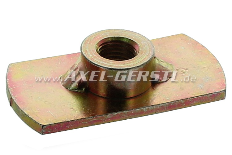 Weld nut for safety-belt installation (at floor panel)