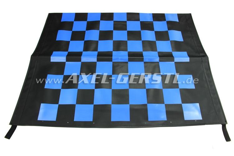 Fodera capote Corsa, nero e blu quadrettata