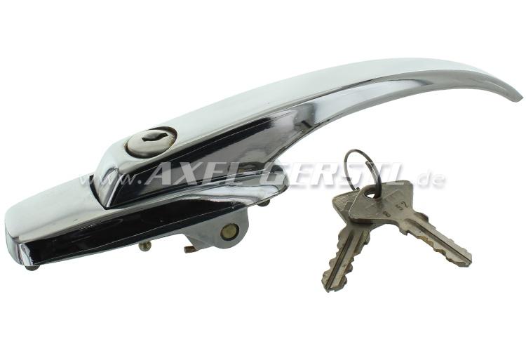 Poignée/serrure seule avec vérin de fermeture et clés