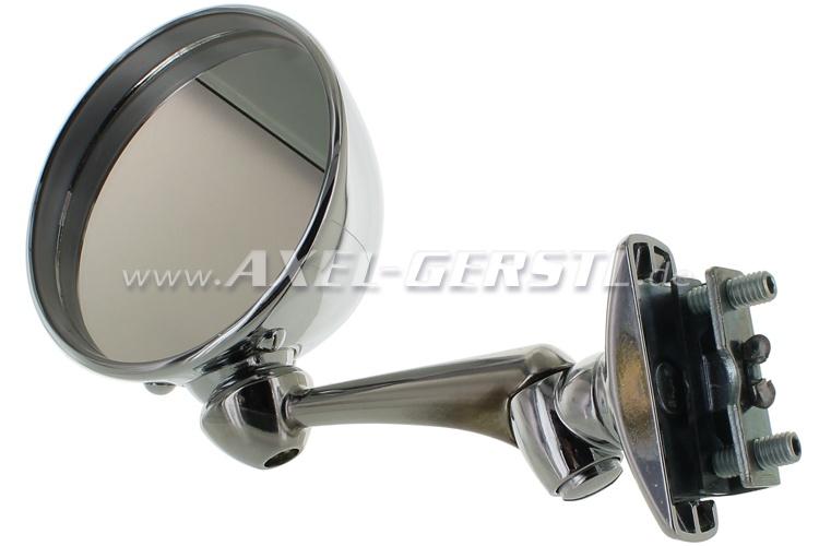Exterior mirror, door rabbet mounting Sport chrome, round
