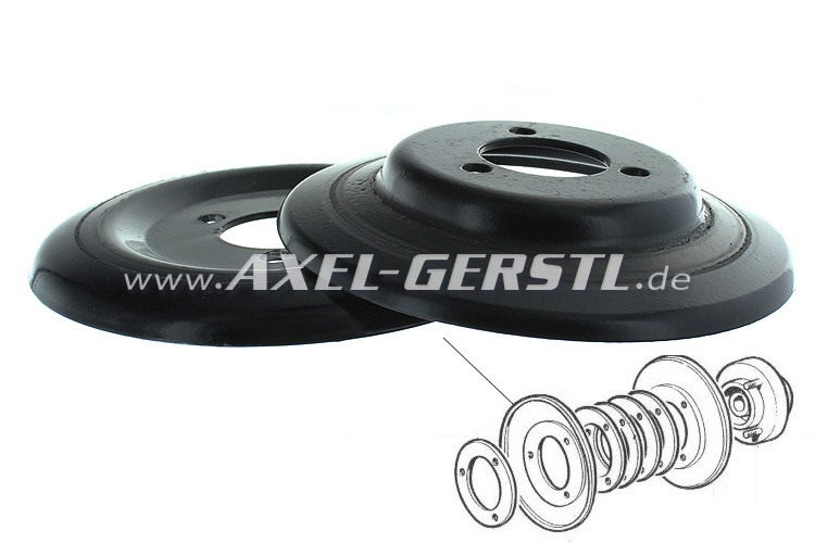 Pulley for alternator, 2 pieces