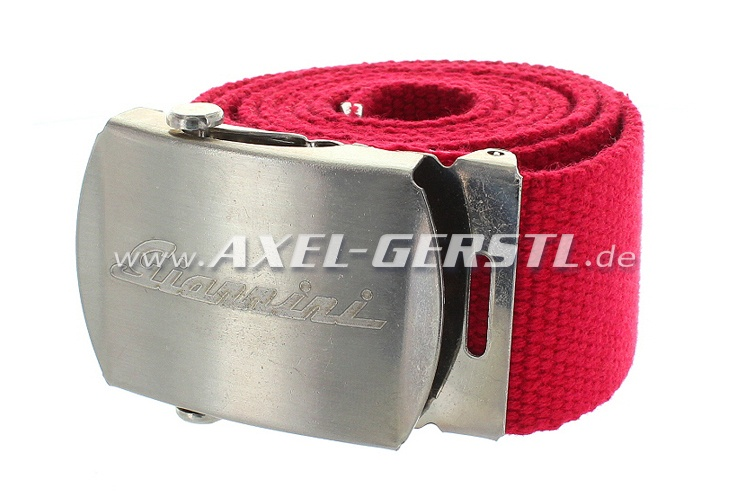 Belt (40 mm) with Giannini belt buckle, red