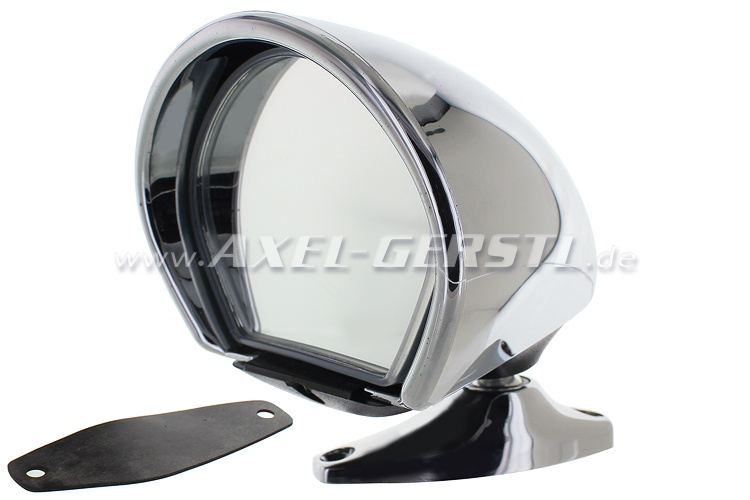 Side mirror Sebring, chrome, right/left, bulbous-pointed