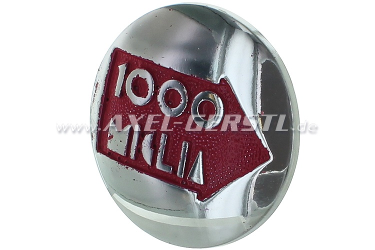 Wheel cover 1000 MIGLIA, on red, 47 mm, bolted