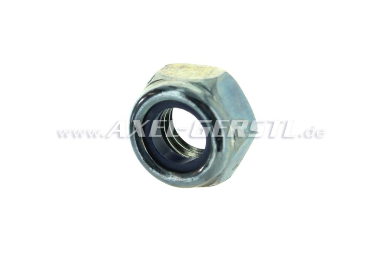 Nut M6, self-locking, electrogalvanized
