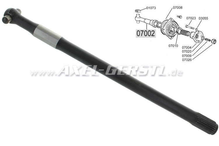 Drive shaft, thick shaft (Diameter of 25 mm)