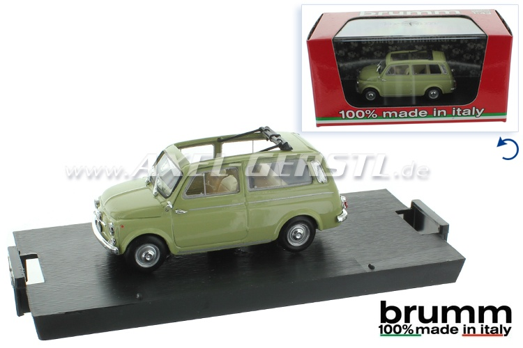 Model car Brumm Fiat 500 Giardiniera 1:43, green