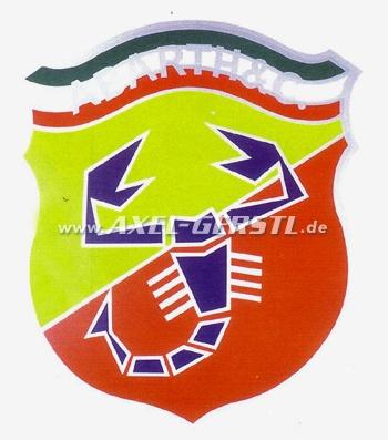 Emblème Abarth / Autocollant 50 x 58 cm ( Blason)