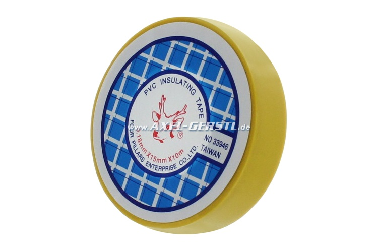 Nastro isolante - giallo / 0,15 mm x 15 mm  x 10 m