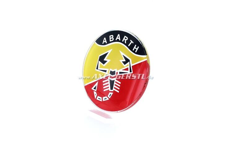 Emblème Abarth pour coller, rond, 60 mm
