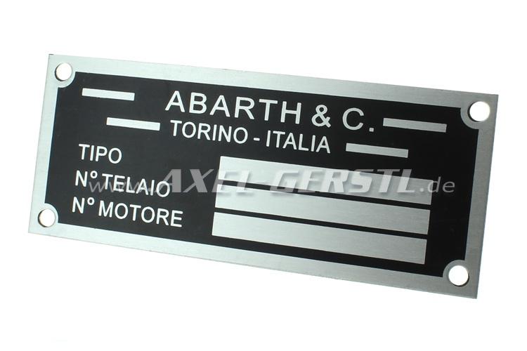 Typenschild Abarth & C. (Alu)