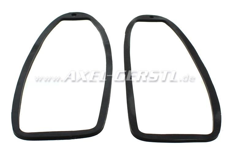 Rubber base for tail lamp lens, in pairs