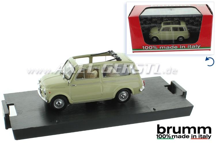 Modellauto Brumm Fiat 500 Giardiniera, 1:43; elfenbein