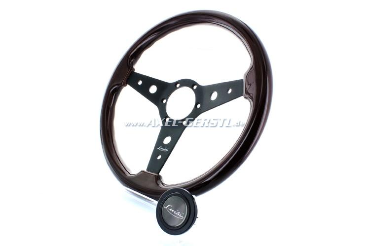 Luisi sport-steering wheel Montreal, bl. spokes wood 340