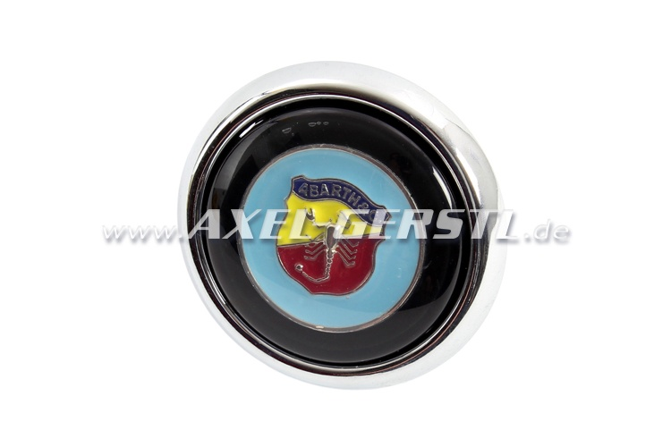 Abarth-Hupknopf incl. Taster & Button (Wappen auf blau)
