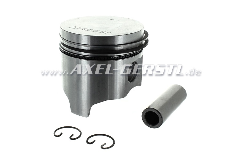 Piston 77.0 mm with piston rings and pin, 0.6 oversize