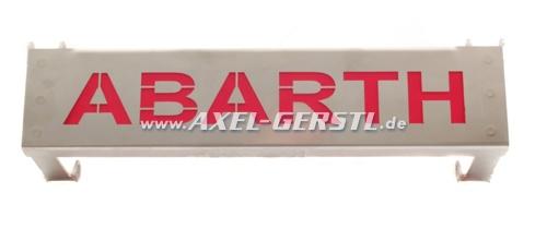 Motorhauben-Aufsteller unten, Abarth (Schriftzug rot)