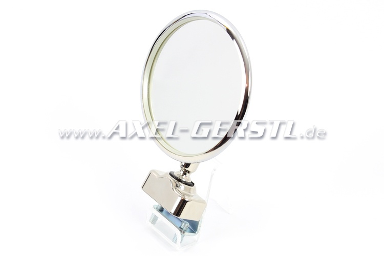 Seitenspiegel, Türfalzmontage chrom, rund/Dm. 105mm, PREMIUM