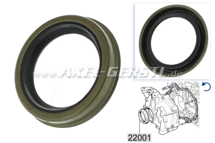 Radial shaft seal for engine, at front -at timing chain side