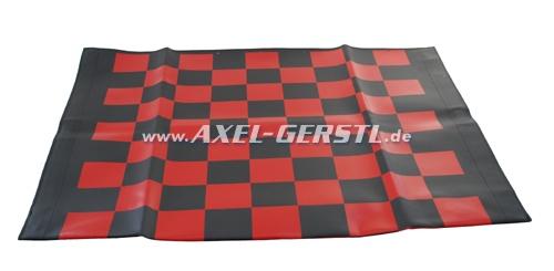 Fodera capote Corsa, nero e rosso quadrettata
