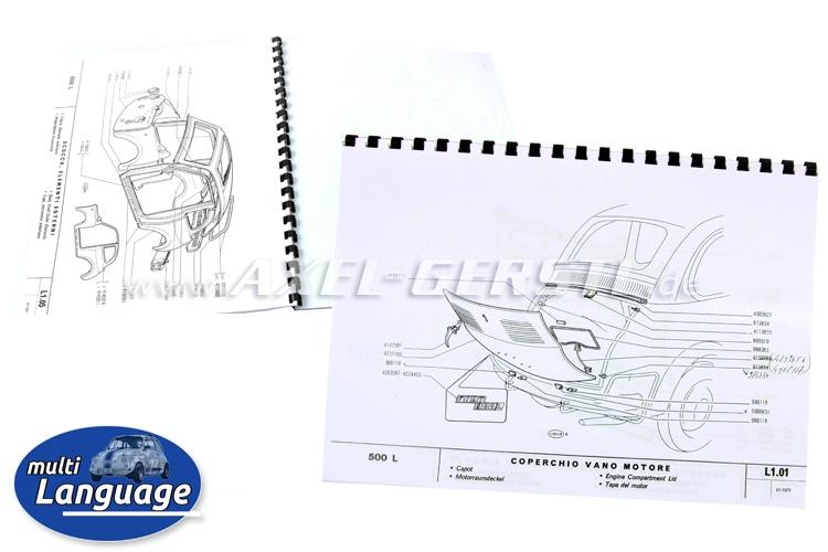 Catalogo ricambi carrozzeria, 20 pagine. copiato DIN A4
