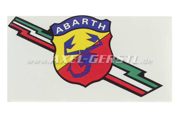 Abarth sticker (with lightning symbol/Freccia Tricolore)