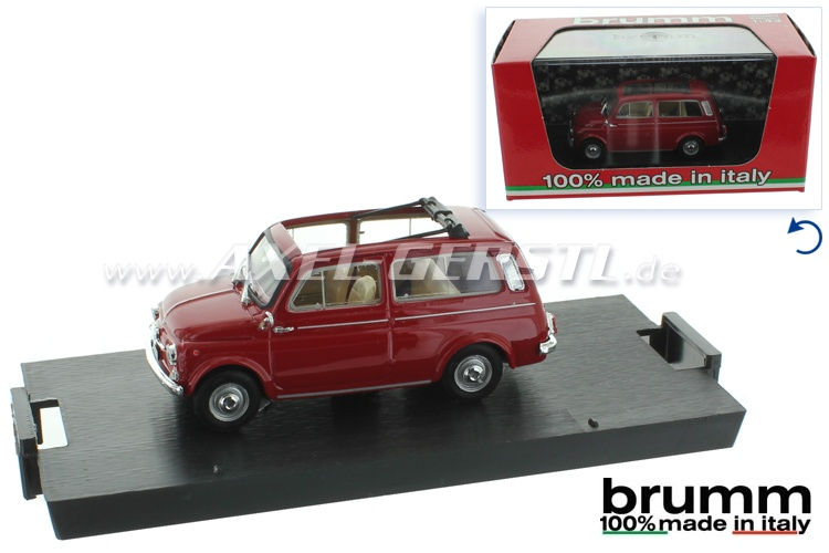 Modellauto Brumm Fiat 500 Giardiniera, 1:43; rot