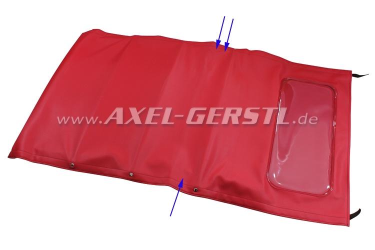 SoPo: Verdeck inkl. vord. Bügel & mittl. Stangen (lang), rot