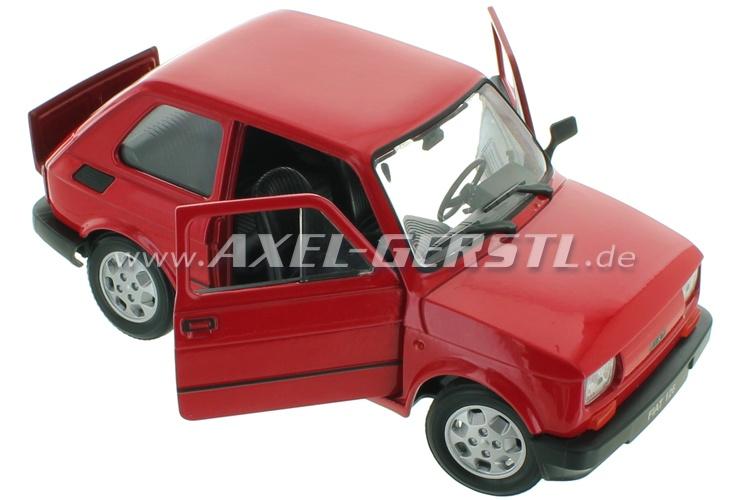 model car welly fiat 126 1 24 red fiat 126 fiat 500 126 600