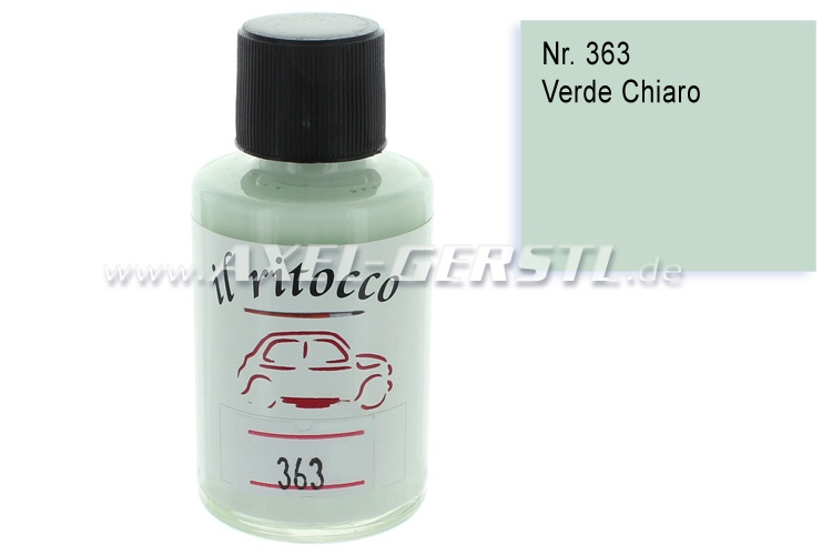 Touch-up paint for the bodywork, green (clear), N. 363