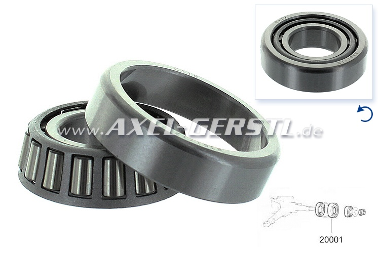 Front wheel bearing, inner, 43 x 20 x 13 mm