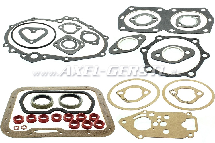 Set of engine gaskets 600 cc, w. radial shaft seal rings