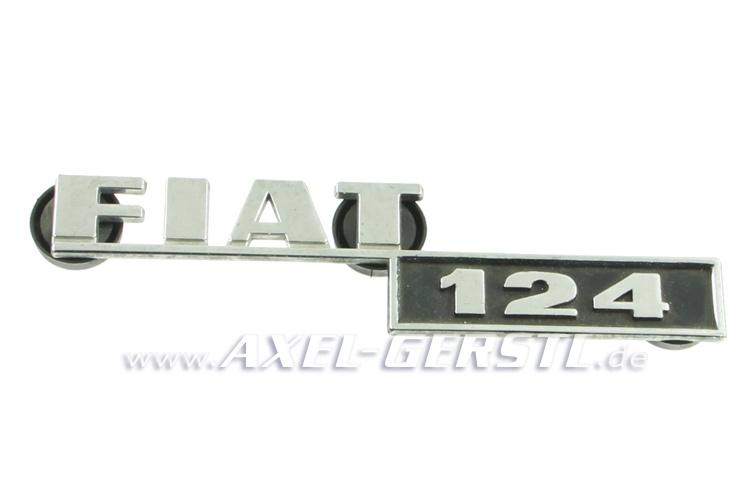 SoPo: Heckemblem / Schriftzug Fiat 124, Metall