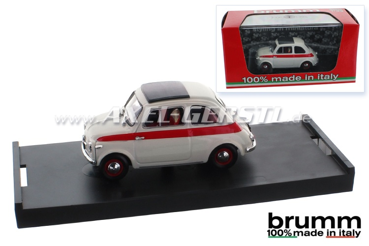 Model car Brumm Fiat 500 N Sport 2a, 1:43, closed