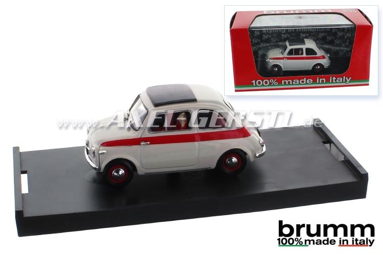 Modellauto Brumm Fiat 500 N Sport 2a, 1:43, geschlossen