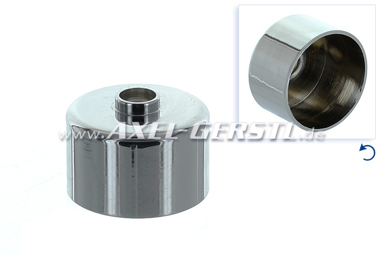 Chrome cap for wiper shaft