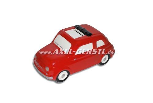 Salvadanaio Fiat 500 Modell ca. 1:18, rosso